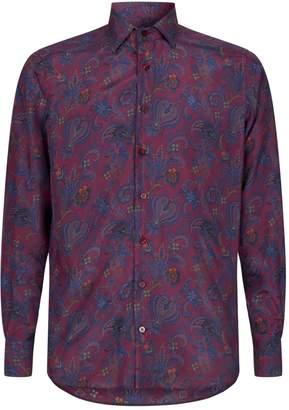 Etro Silk Paisley-Print Shirt