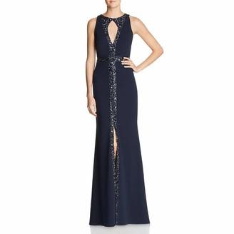 Aidan Mattox Aidan Women's Key Hole Embellished Gown