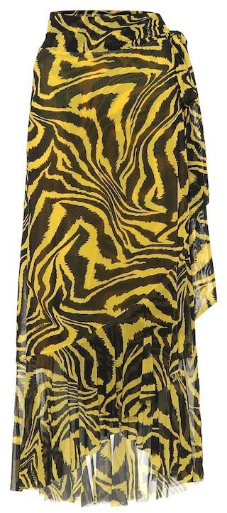Thumbnail for your product : Ganni Exclusive to Mytheresa Animal-print wrap skirt
