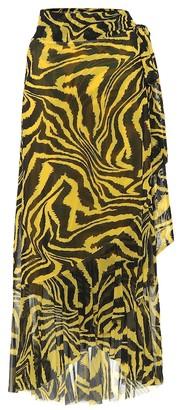 Ganni Exclusive to Mytheresa Animal-print wrap skirt