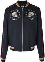 Just Cavalli skulls bomber jacket - men - Cotton/Polyester/Viscose/Virgin Wool - 48
