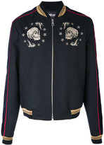 Just Cavalli - skulls bomber jacket - men - Cotton/Polyester/Viscose/Virgin Wool - 50