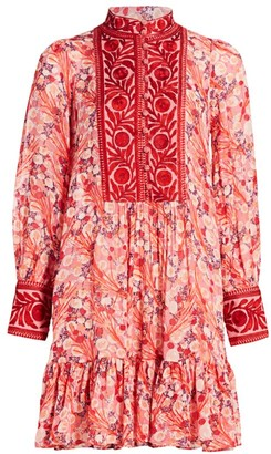 By Ti Mo Bytimo Delicate Semi Couture Embroidered Ribbon Dress