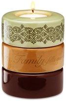 Calla - Trio Calla-Trio by Pavilion Gift Stackable Tea Light Candle Holder, Family Sentiment