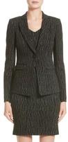 Armani Collezioni Women's Snake Print Jersey Jacket