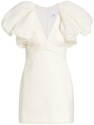 Acler Raven Puff Sleeve Mini Dress