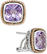 Macy's Amethyst Stud Earrings (7 ct. t.w.) in 18k Rose Gold and Sterling Silver