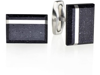Gravelli Falcon Steel Concrete & Surgical Steel Cufflinks Anthracite