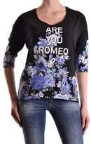 Liu Jo Women's Black Cotton T-shirt.