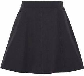RED Valentino Gathered Cotton-blend Mini Skirt