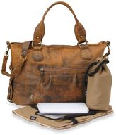 OiOi Slouch Tote Diaper Bag in Distressed Leather