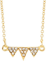 Lydell NYC Triple Inverted Crystal Triangle Pendant Necklace, Gold