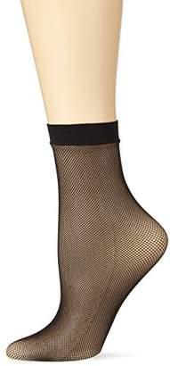 Kunert Women's Raffinesse Net Socks, 30 DEN, (Black 0500)