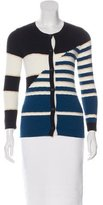 Just Cavalli Wool Colorblock Cardigan