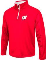 Men's Stadium Wisconsin Badgers College Embossed Sleet Quarter-Zip Pullover