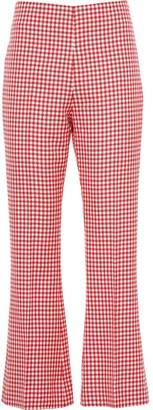 Miu Miu Gingham Check Twill Trousers