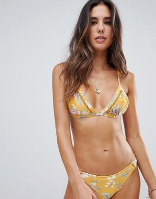 rhythm Tropical Cheeky Bikini Bottom-Yellow