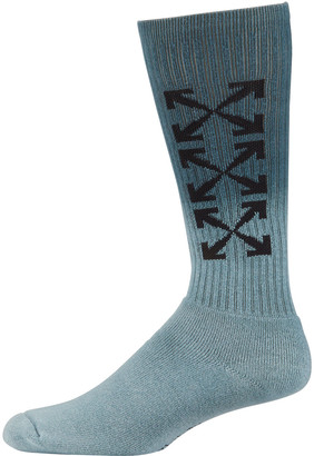 Off-White Men's Arrow Mid-Length Ombre Socks