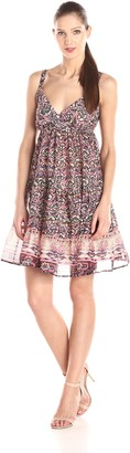 Raga Women's Juniper Baby Doll Printed Dress