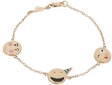 Alison Lou Enamel & yellow-gold Celebration Faces bracelet