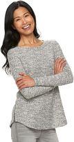 Croft & Barrow Women's Side-Zip Boatneck Sweater