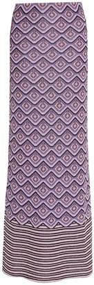 Paco Rabanne purple lurex midi skirt