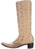 Rocco P. Python Knee-High Boots