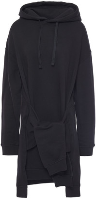 McQ Tie-front French Cotton-terry Hooded Mini Dress