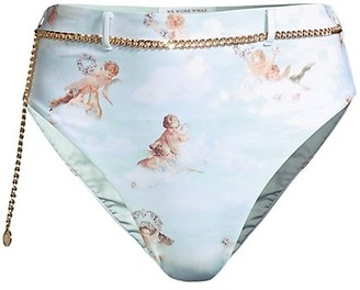 WeWoreWhat Emily Belted Chain Swim Bottoms