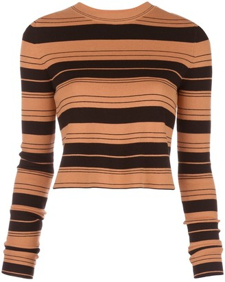 Proenza Schouler White Label Striped Cropped Jumper