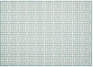 "One Kings Lane Masa Dhurrie - Blue/Ivory - 2'6""x4'"