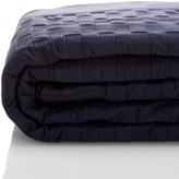 HUGO BOSS Elegante Silk Border 350 Thread Count Navy Comforter - Full/Queen