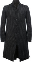 Masnada metallic stripes midi coat - men - Cotton/Linen/Flax - 46