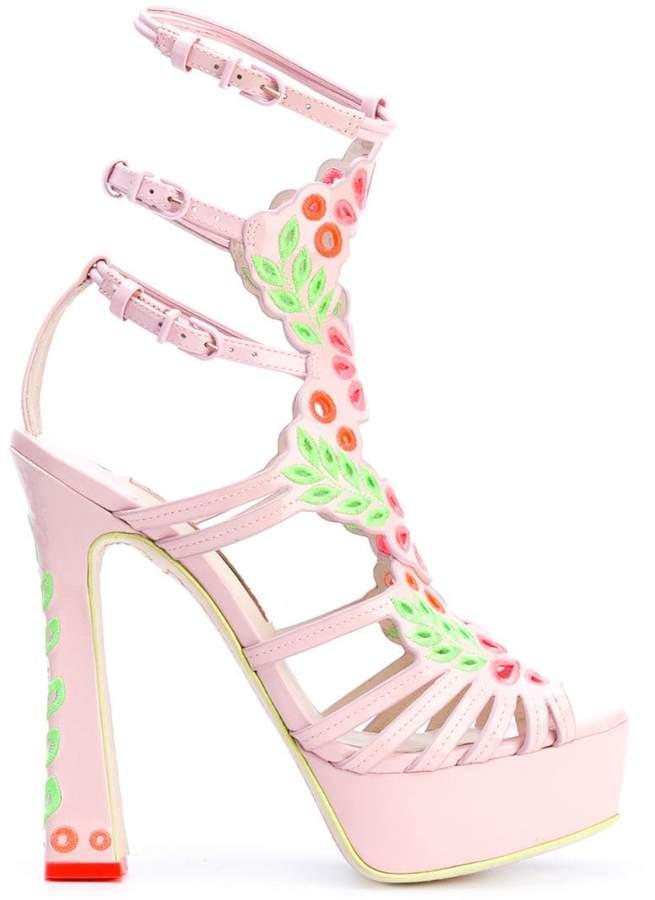 SOPHIA WEBSTER Printed platform sandals Buy Cheap Low Shipping DPsIpj