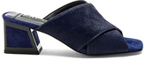 Kat Maconie Lizzie Calf Hair Heel in Navy. - size 38 (also in 39)