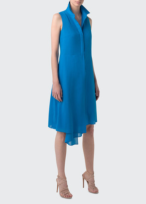 Akris Sleeveless Asymmetric Shirtdress