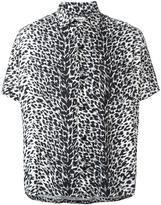 Saint Laurent leopard print shirt
