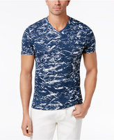 INC International Concepts Men's Marbled V-Neck T-Shirt, Only at Macy's