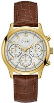 GUESS GUESS? Women's Brown and Gold-Tone Watch