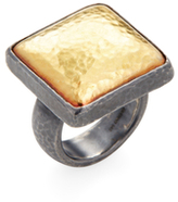 Gurhan Sterling Silver & 14K Yellow Gold Square Ring