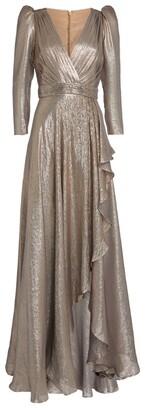 ZUHAIR MURAD Metallic Keeffe Dress