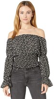 Thumbnail for your product : Rock and Roll Cowgirl Virago Sleeve Off Shoulder Blouse with Smocked Waist B4C8440