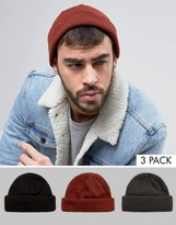 Asos Mini Fisherman 3 Pack In Black Gray And Rust SAVE