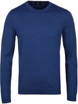 Boss Bagritte Royal Blue Crew Neck Extra Fine Merino Sweater