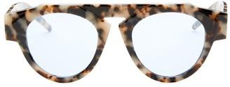 Smoke X Mirrors x FIORUCCI Atomic3 Marble Glam Round Sunglasses