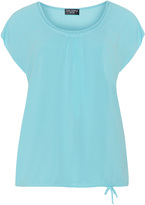 Via Appia Plus Size Chiffon overlay jersey top