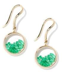 Aurelie Bidermann Chivor Emerald& 18K Yellow Gold Earrings