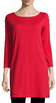 Joan Vass 3/4-Sleeve Studded Tunic