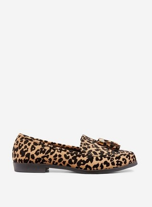 Dorothy Perkins Womens Wide Fit Leopard Print 'Lille' Loafers