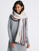 Marks and Spencer Soft Touch Striped Scarf